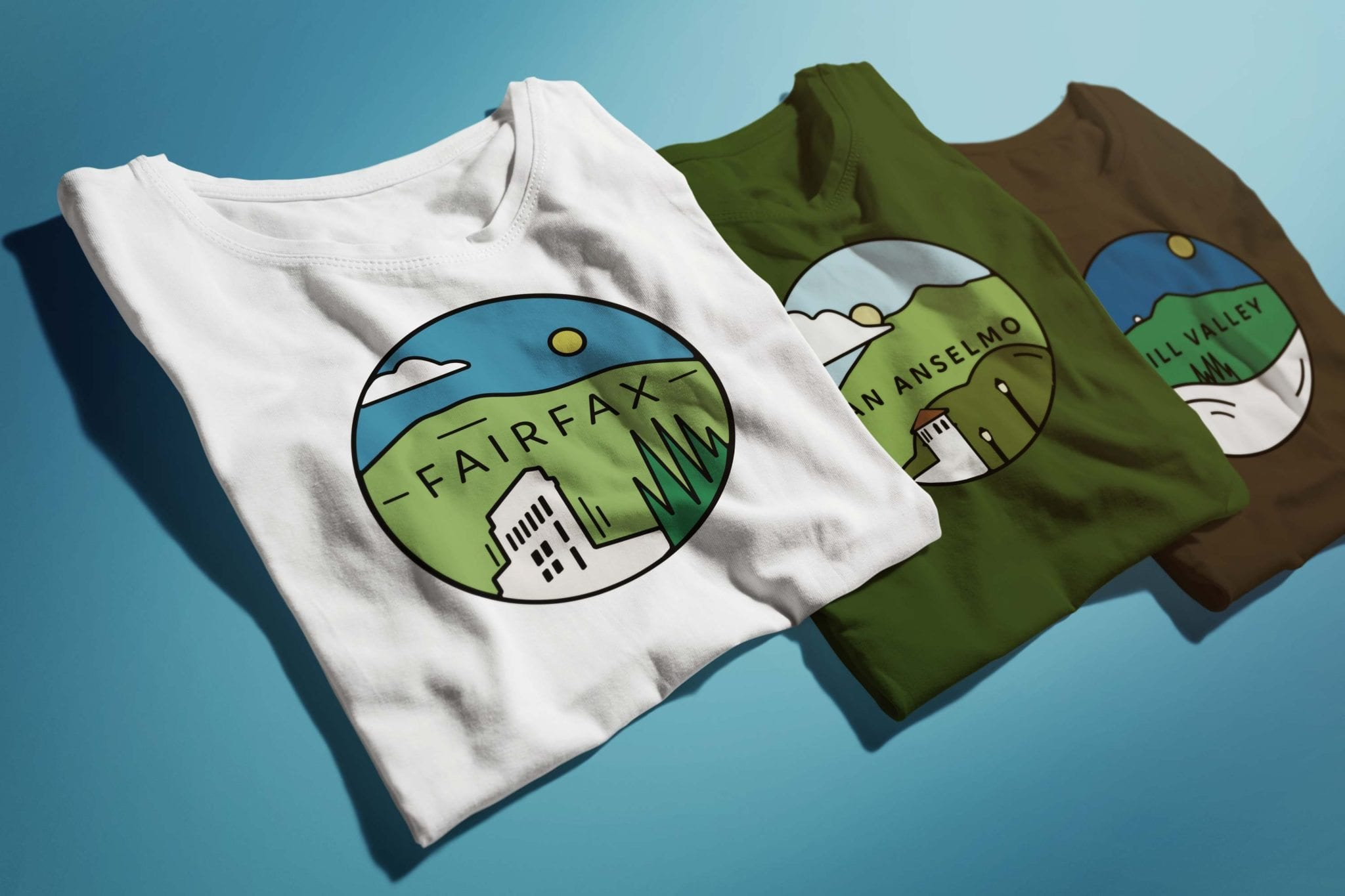 New Marin Town Logos for Marin Gear Shop